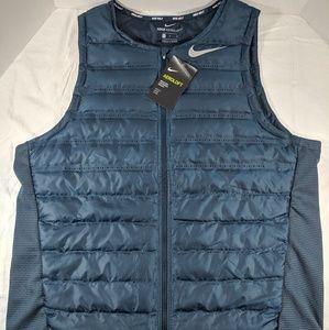 Nike Aeroloft Tech Golf Vest Blue/Green NWT
